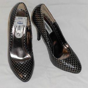 Steve Madden heels sz 7.5 M bronze EUC